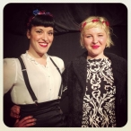 With Charlie Lane for her EP launch at Owl and the Pussycat, August 2014.