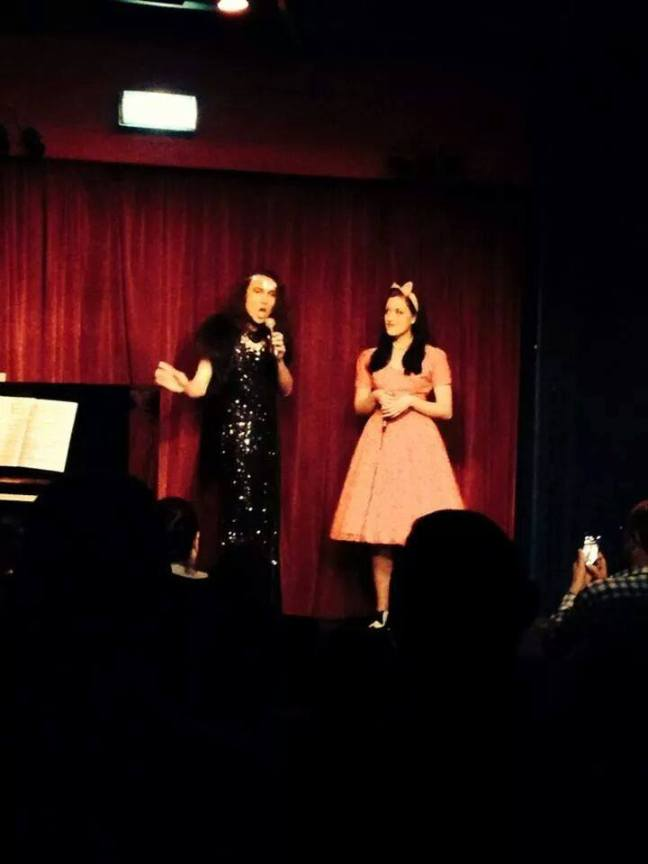 Mama Alto's Christmas Special, The Butterfly Club, December 2014. Photo by Natalie King.